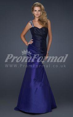 New Arrive Satin One Shoulder Trumpet/Mermaid Sweep Train Evening Dress(PRJT04-0599) - promformal.co.uk