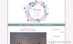 Fancy Free, purple blogger template - Blogger Candy