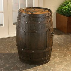 Tequila Barrel Trash Can at Wine Enthusiast - $595.00