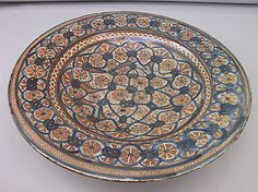 Plate. Early 15th century Spain. Metropolitan Museum of Art.
