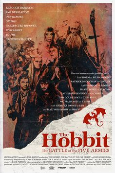 """The Hobbit: The Battle of the Five Armies"" (1979) directed by John Boorman, starring Ian Holm; by Peter Stults"