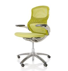 Knoll Generation Chair.  Precisely where I'm sitting right now!  Styling and ergonomics go hand-in-hand.