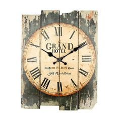 "Rustic ""Grand Hotel"" Wall Clock Shabby Chic"