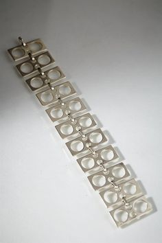 Bracelet, anonymous, Sweden. 1970's. Sterling silver. L: 18 cm/ 7''