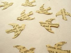 Love Dove Confetti Book paper...how perfect for the literary couple