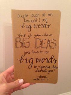 Customized Handwritten Large Moleskine Cahier by waitingwithgrace, $12.50 on etsy.com.