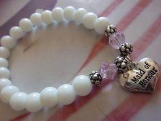 Das Armband für die Brautjungfer - aus Glas- und Kristallperlen. Gibt's bei www.hintzundtoechter.de