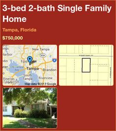 3-bed 2-bath Single Family Home in Tampa, Florida ►$750,000 #PropertyForSale #RealEstate #Florida http://florida-magic.com/properties/9582-single-family-home-for-sale-in-tampa-florida-with-3-bedroom-2-bathroom