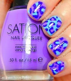 Fantastic Purple Leopard Print Nail Art - I love this but I would never have the patience for it...