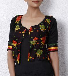 Black Cotton Reversible Jacket,
