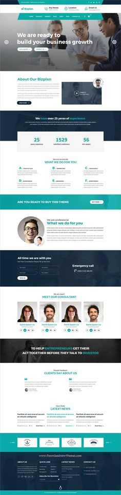 Bizplan is clean and modern design #PSDtemplate for #corporate business and agency #website with 3 homepage layouts and 21 layered PSD files to live preview & download click on image or Visit  #webdev
