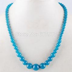 "Find More Chain Necklaces Information about Free Shipping 2015 New Fashion 4 14 mm Jade Round Beads Jewelry Necklace 17.5"" 1Pcs TF1065,High Quality necklace cord,China necklace mickey Suppliers, Cheap necklace byzantine from Crazy Jewelry on Aliexpress.com"