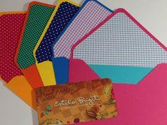 Estúdio Brigit - Livros Artesanais & Arte: Envelopes Poá & Xadrez (Polka Dots & Checkered Env...