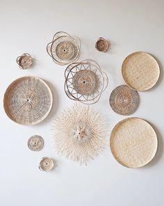 No.18 Basket Wall Hanging Set of 11 | Olive & Iris Baskets On Wall, Hanging Baskets, Woven Baskets, Basket Weaving, Hand Weaving, Iris, Hanging Wall Art, Wall Hangings, Smooth Walls