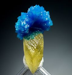Cavansite with Calcite from Wagholi, Maharashtra, India
