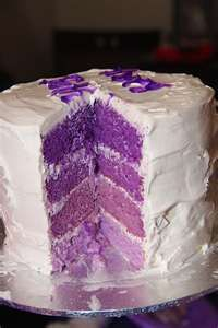 Purple rainbow layer cake for my little munchkins 1st birthday which was purple themed :D