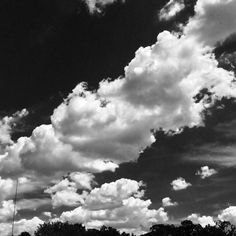 Clouds in black & white HDR