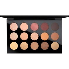 Eye Shadow x15 Warm Neutral MAC Australia (€96) ❤ liked on Polyvore featuring beauty products, makeup, eye makeup, eyeshadow, filler, palette eyeshadow, mac cosmetics eyeshadow and mac cosmetics