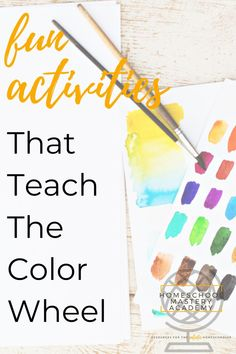 Fun Activities for teaching the color wheel at home! #colorwheel #artforkids #colortheory #homeschool