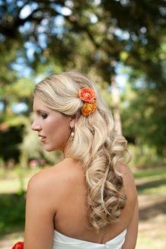 Curly Wedding Day Locks, Wedding Hair & Beauty Photos by Christina Watkins Photography