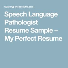 Speech Pathology Resume Slp & Teacher Resume And Cover Letter Templates  Fully Editable .