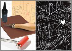 Plasma el ambiente de los años 20 en la gran ciudad como los expresionistas con el kit de linograbado #LibreríaMPM