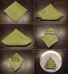 Erg leuk idee voor een kerst servet!