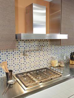 Moroccan Kitchen Backsplash, by Anthony Carrino // on HGTV Kitchen Cousins, New Kitchen, Kitchen Dining, Kitchen Decor, Kitchen Ideas, Kitchen Stuff, Dining Room, Blue Backsplash, Kitchen Backsplash