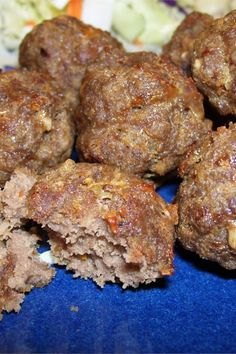 The Best Meatballs Youll Ever Have Hackfleisch/minced meat Hamburger Meat Recipes, Meatball Recipes, Beef Dishes, Food Dishes, Meat Dish, Main Dishes, Best Meatballs, Asian Meatballs, Teriyaki Meatballs