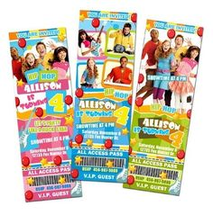 THE FRESH BEAT BAND PARTY BIRTHDAY INVITATION TICKET CARDS CUSTOM INVITES f3 in Specialty Services | eBay