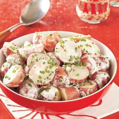 Sour cream and chives make this potato salad stand out from the rest.