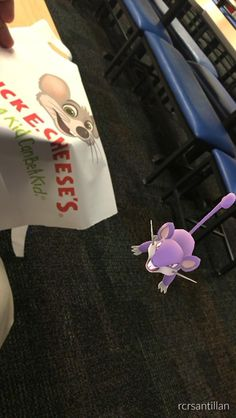 Was playing Pokemon Go at Chuck E. Cheese when suddenly..