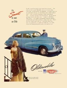 1948 Oldsmobile and the Woman in Style