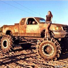 Jacked Up Chevy, Lifted Ford Trucks, Custom Trucks, Chevy Trucks, Pickup Trucks, Lifted Jeeps, Diesel Trucks, Muddy Trucks, Trucks And Girls
