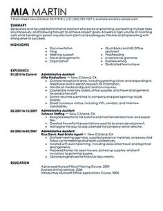 Great Administrative Assistant Resumes  This Resume Was Written
