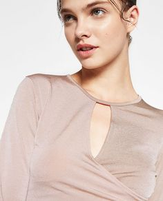 CROSSOVER CROPPED TOP-Ballet collection-GYMWEAR-WOMAN   ZARA United States