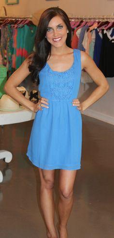 Dottie Couture Boutique - Pastel Chiffon Dress-Blue, $48.00 (http://www.dottiecouture.com/pastel-chiffon-dress-royal/)