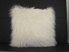 white fur pillow - Google Search