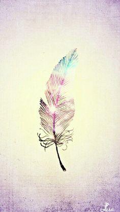 Glitter feather girl wallpaper cute kawaii smartphone iphone galaxy