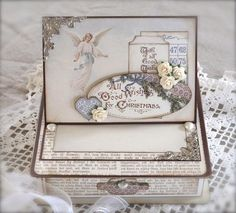 Synnøves Papirverksted: All good wishes, box for sweets, Box for Christmas, handmade, paper art, Pion design,