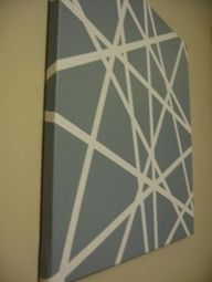 i saw this on trading spaces ages ago and thought it was a great, cheap wall art idea. they used several different colors that were in the room and made three canvases that coordinated. it looked great. one day ill try it.