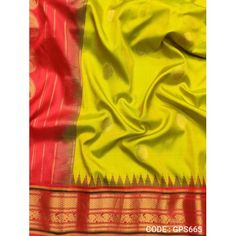 Gadwal Pure Silk Full Motifs Green with Red - GPS665 Pure Silk, Silk Sarees, Red Color, Hand Weaving, Pure Products, Green, Hand Knitting
