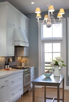 Blue Gray Kitchen Walls Design Ideas, Pictures, Remodel, and Decor - page 3