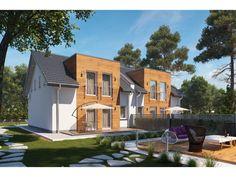 DOM.PL™ - Projekt domu HP Silver Twin A - Segment CE - DOM HP2-01 - gotowy koszt budowy