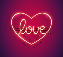 Love Heart Neon Sign Art Print by voysla True Love Tarot, Neon Light Signs, Neon Signs, Neon Word Lights, Calling All Angels, Silvester Trip, Neon Sign Art, Love Neon Sign, Love Tarot Reading