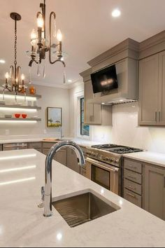 Silestone Lagoon countertops Powder Room Remodel, Kitchen Countertops, Home Remodeling, Kitchen Contest, New Homes, Silestone Lagoon, Grey Kitchens, Countertops, Silestone Countertops