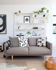 Home style // White shelves against a white wall give a more open appearance