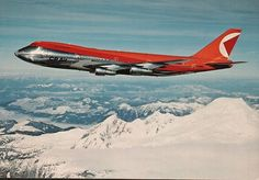 CP Air Boeing 747 This was one of my favorite cards, because I loved the colors of CP Air's airplanes: silver, red and orange. Canadian Airlines, Pacific Airlines, Best Airlines, Sud Aviation, Civil Aviation, Boeing Aircraft, Passenger Aircraft, Concorde, Rolls Royce