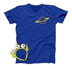 Pizza Planet Alien Shirt Disney Toy Story T-shirt Cosplay Halloween Costume Men Women Youth Toddler Shirts null price: null null . Toy Story Halloween Costume, Toy Story Costumes, Family Costumes, Adult Costumes, Costumes Kids, Maleficent Costume Kids, Mad Hatter Costumes, Pizza Planet, Halloween Headband