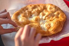 Lángos will change your perspective on street food Hungarian Recipes, Instant Yeast, Kefir, Finger Food, Bread Baking, Summer Recipes, Street Food, Apple Pie, Bread Recipes